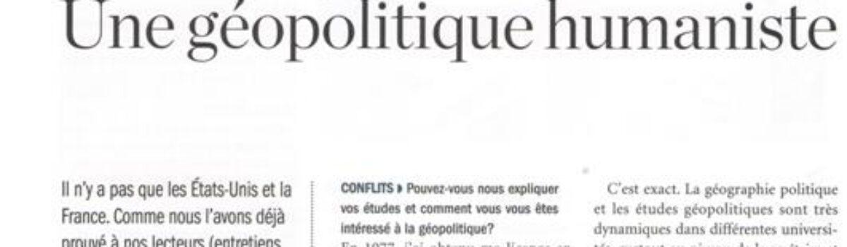 مصاحبه با فصلنامه فرانسوی کانفلیت