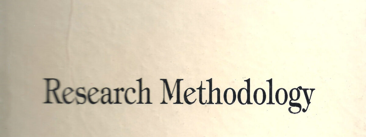 An Introduction to the Research Methodology in Humanities